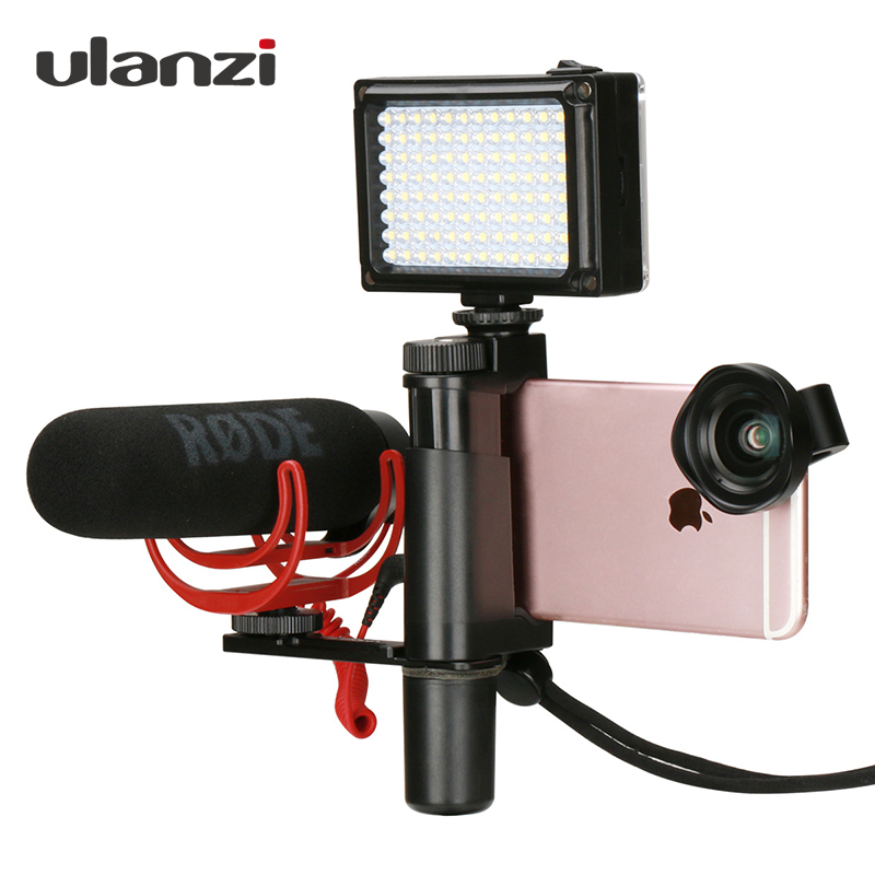 Ulanzi Phone Video Stabilizer Handheld Smartphone Video Shooting Equipment Filming Video Live Streaming Mount Holder Grip Tripod