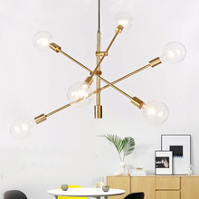 купить Modern hanging lamp light LED dinning bed room bedroom foyer round glass ball black gold nordic simple modern pendant light lamp дешево