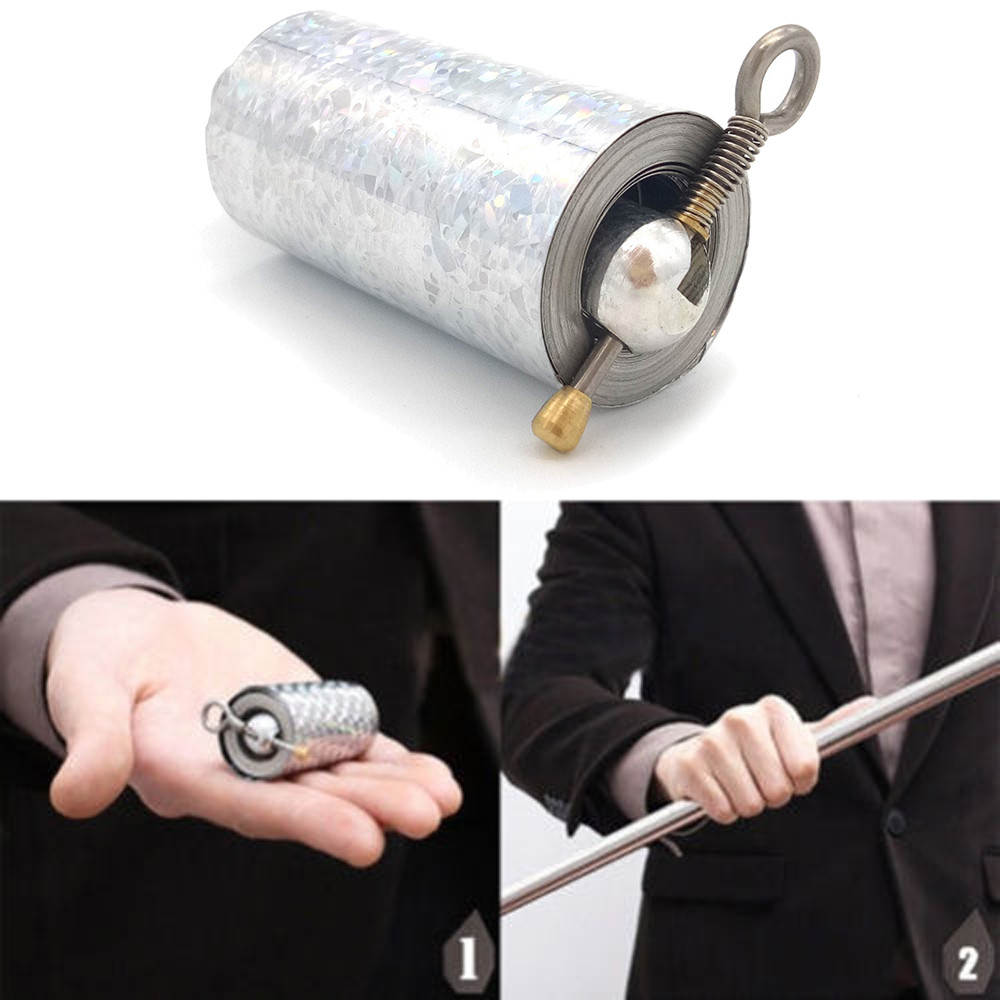 1Pc Staff Portable Martial Arts Metal Magic Pocket Bo Staff New High Quality Pocket Outdoor Sport Stainless Steel Silve