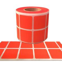 1 Inch Square Fluorescent Red Color Coding Dot Label Stickers Self-Adhesive Sticker Stationary to Decor