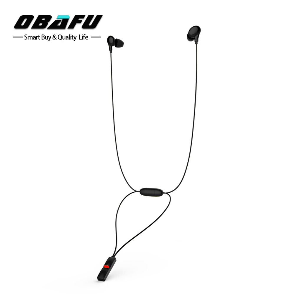 OBAFU M6 Necklace Wireless Earphone Bluetooth 4.1 EDR Noise Cancelling Sweatproof in-ear Headset Sport Stereo Earbud magnetic switch bluetooth wireless sport earphone sweatproof stereo noise cancelling headset for huawei honor 6c 6x 6a v9
