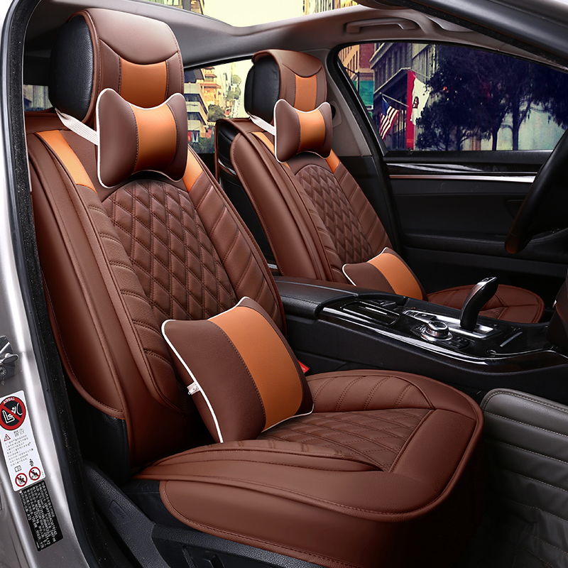 5seat front rear automobiles car seat covers car styling. Black Bedroom Furniture Sets. Home Design Ideas