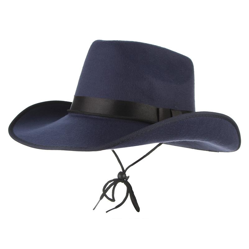 e46ea82aca3 4 Colors Vintage Western Cowboy Hats For Men Wide Brim Sun Visor Cap ...