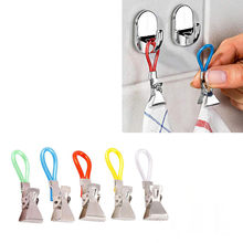 5PC Kitchen wall-mounted washcloth hook clip Durable Tea Towel Hanging Clips Clip On Hook Loops Hand Towel Hangers bathroom(China)