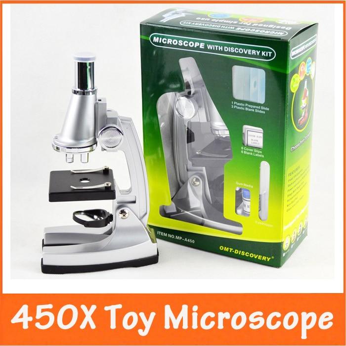 Karácsonyi ajándék max. 450X teljesítményű szellemi fejlődés Tudományos játék gyerekeknek gyerekeknek oktató mikroszkóp nagyító diákok számára