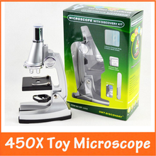 Christmas Gift Max. 450X Power Intellectual development Science Toy Children Kids Educational Microscope Magnifier for Students