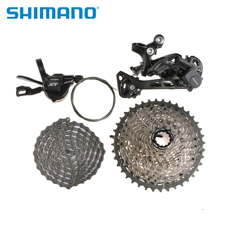 SHIMANO Deore XT M8000 GS Rear Derailleur MTB Bike Bicycle Parts M8000 RAPIDFIRE Plus I-specII Shift Right Lever  HG-X Cassette  shimano acera mountain bike st ef65 shift brake lever 3 8 speed 24s mtb bicycle bike conjoined dip bicycle derailleur