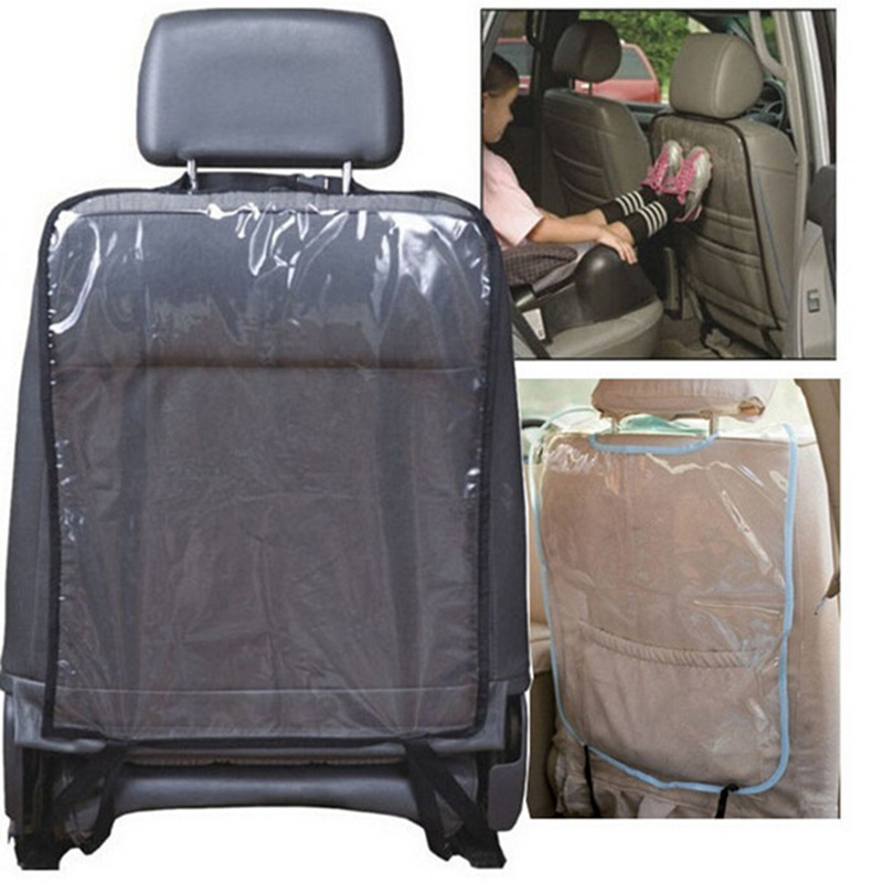 1Pcs Transparent Child Car Seat Back Cover Back Protection Baby Anti-kick Anti-trampled Dirty Mat Waterproof Car Covers 6z-za038