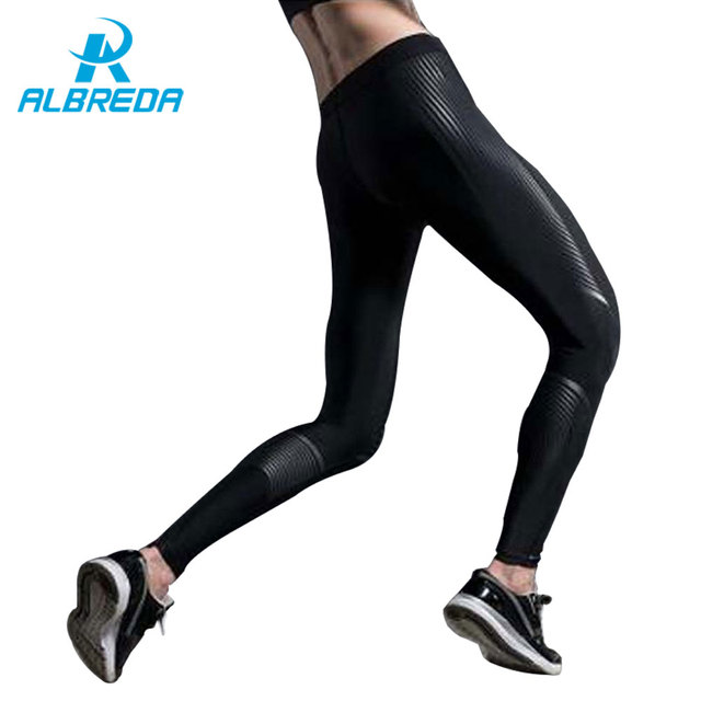 d14907fb828f3 ALBREDA 2018 Yoga Leggings For Women Gym Clothing Sports Stretch tight  fitting pants Workout Sport Fitness Slim Running Clothes