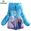 Girls Winter Coat Jacket Snow Queen Down Parkas Cotton-padded Clothes Children Winter Coat For Girls Thick Long Cotton Outerwear