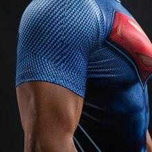 Mens Super Hero Slim Fit 3D Print Compression T-Shirt's