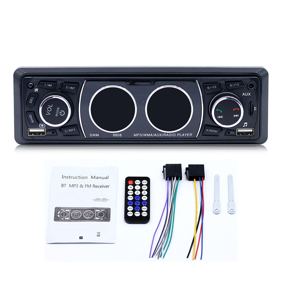 Classic Car Vehicle MP3 Player Stereo Audio Player with FM Radio AUX TF Card U Disk Player Remote Control Built-in Microphone BT wireless fm transmitter stereo lcd broadcast radio station 1w to 7w u disk audio mp3 player