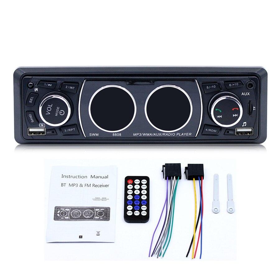 Véhicule de voiture classique lecteur MP3 lecteur Audio stéréo avec Radio FM AUX TF carte U lecteur de disque télécommande Microphone intégré BT