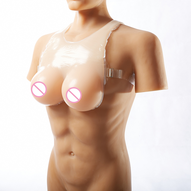 Skin Silicone Breast  Conjoined Style 1400g/pair Drag Queen Shemale Artificial Fake Boobs Crossdresser Realistic Breast Form Skin Silicone Breast  Conjoined Style 1400g/pair Drag Queen Shemale Artificial Fake Boobs Crossdresser Realistic Breast Form