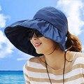 2016 Дизайн Одежды Цветочные Складной Наполнянный До Краев Шляпа Солнца Летние Шляпы для Женщин Открытый УФ-Защита Краев Шляпы Пляж шляпа