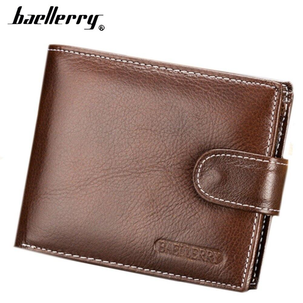 Genuine Leather Litchi Pattern Men Wallet Short Design Hasp Zipper Multi-card Coin Pocket Retro Brown Black Card Holder 11Y casual weaving design card holder handbag hasp wallet for women