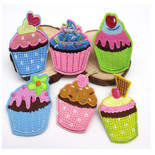 Embroidered Patches iron on small cake patch for Clothing baby patch cartoon embroidery sticker DIY Motif jeans Accessories