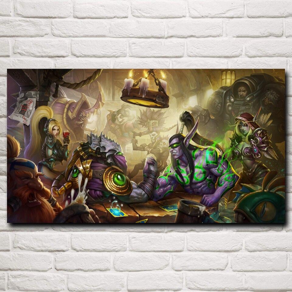 World of Warcraft Art Silk Poster 12x18 24x36 24x43