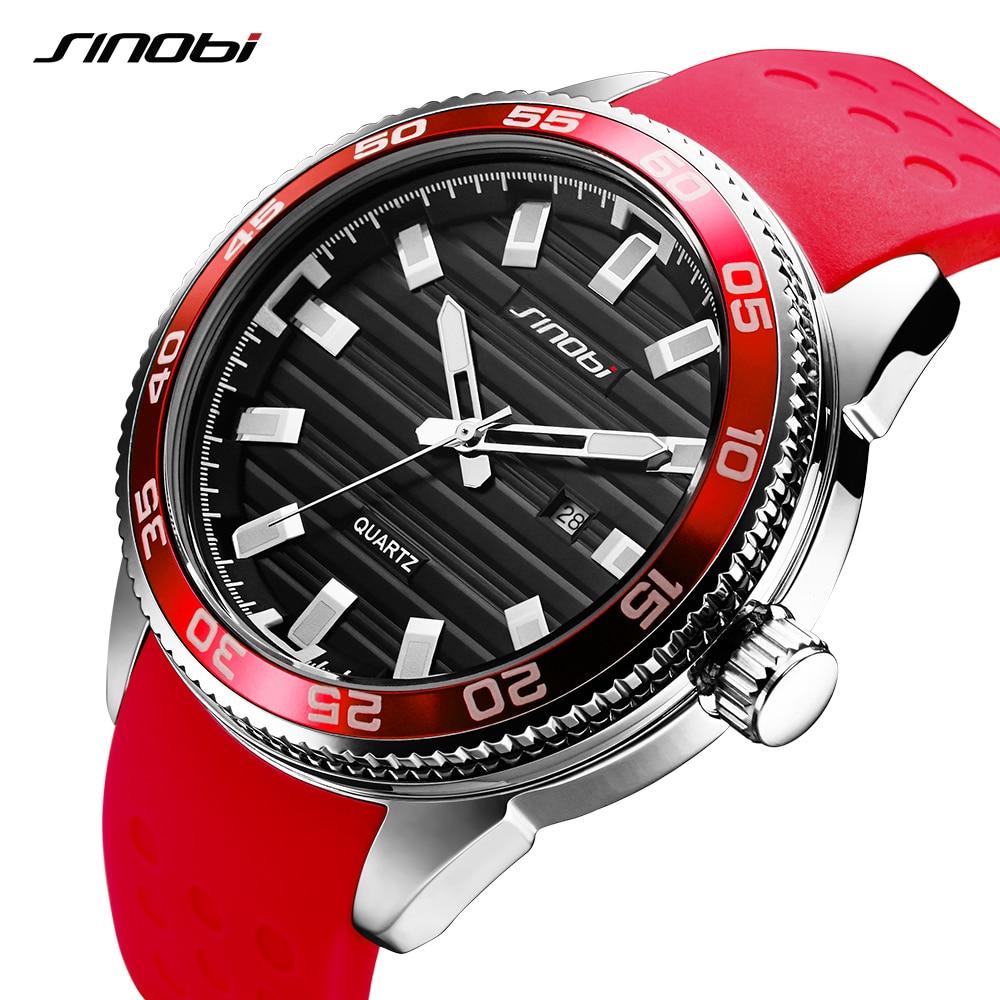 Men Watches Newest Sinobi Men Watches Men Sport Watches Top Luxury Brand Casual Quartz Watch Silicone Strap Relogio Masculino все цены
