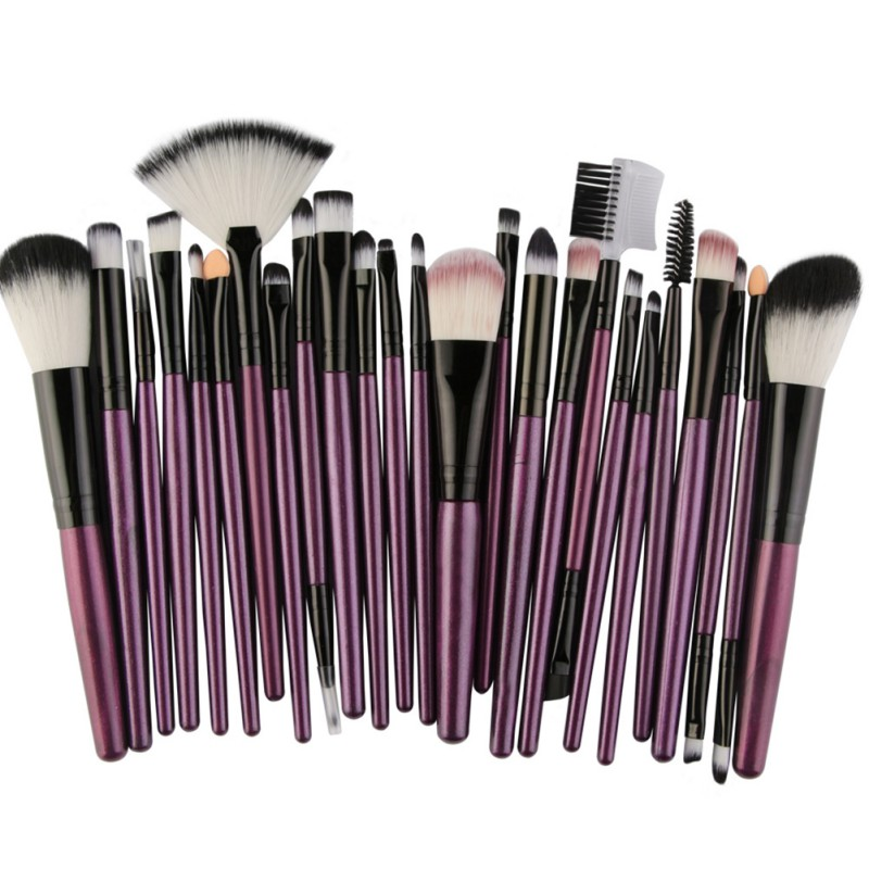 все цены на Makeup Brushes Tool Set Foundation Blending Blush Lip Face Eye Shadow Brow Lash Fan Brush 25 Pieces/set онлайн