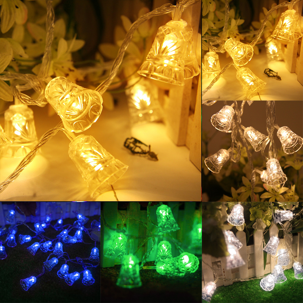 Christmas Decorative lantern string of solar lights layout props flash string light bells ...