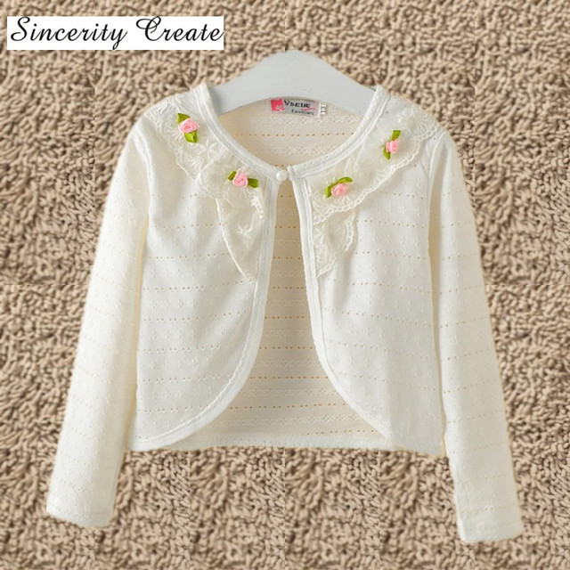 1 10Y Fashion Hollow Thin White Cardigan Girls Clothes Cotton ...