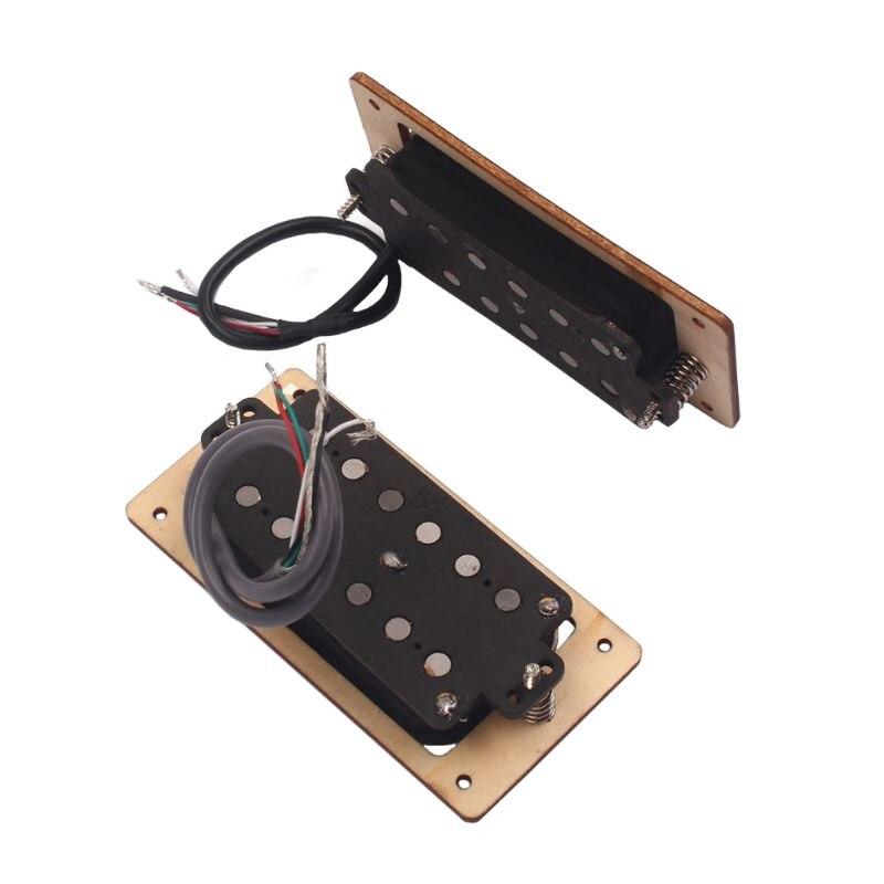 2019 2 pièces/ensemble bois d'érable 6 cordes Humbucker micros pour guitare électrique pièces de rechange accessoire Mar26