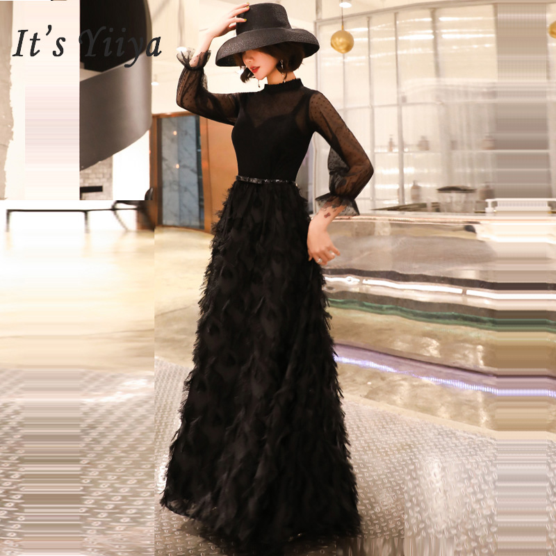 It's Yiiya Prom Dresse Short Plus Size Sexy High Collar Dresses Women Party Night Slim Sleeveless Vestidos De Gala 2019 E556