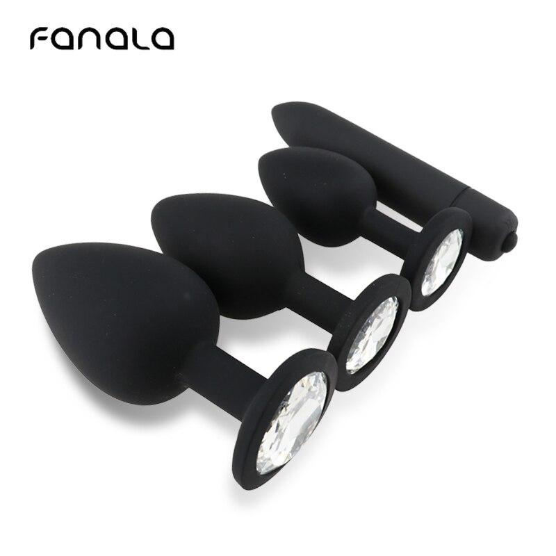 Анальная пробка FanaLa черная, анальный, влагалищный массажер