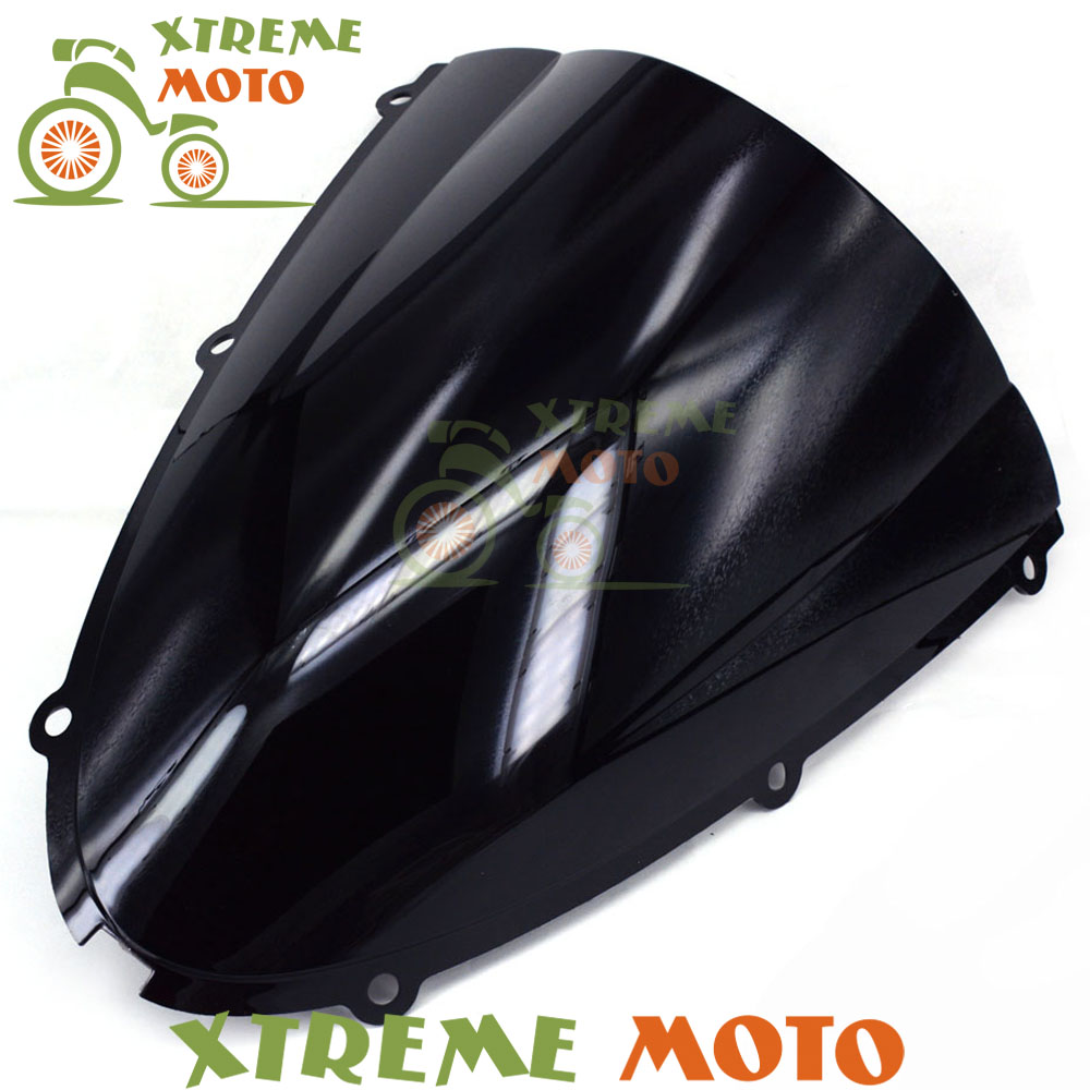 Black Motorcycle Windscreen Windshield For ZX6R ZX-6R ZX 6R ZX636 2005 2006 2007 2008 Motocross Motorbike Dirt Bike Free Shiping aftermarket free shipping motorcycle parts eliminator tidy tail for 2006 2007 2008 fz6 fazer 2007 2008b lack