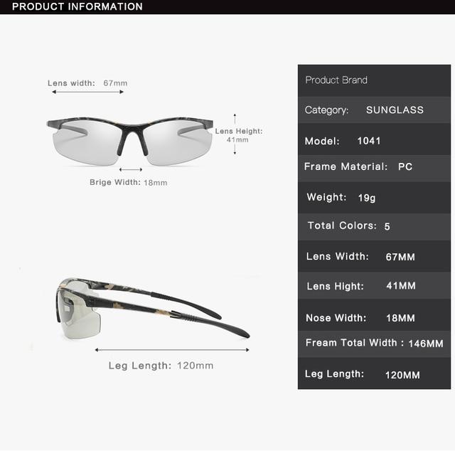 Polarizado photochromic ciclismo óculos de bicicleta esportes ao ar livre óculos de sol óculos de proteção com miopia quadro b1041 5