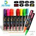 Жидкий Мел XINDI, 8 шт./лот/набор, стираемый маркер, флуоресцентный маркер, красочная краска для доски, Светодиодная доска