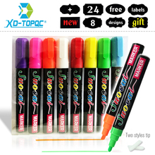 Free shipping New arrival 8pcs/lot whiteboard marker colorful fluorescence for LED Writing Board 8 colors