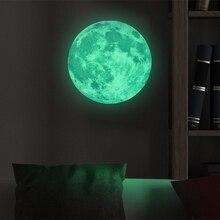 DIY Luminous 3D 5cm 20cm 30cm Moon Earth Wall Stickers Kids Bedroom Decor 2019 New Glow In The Dark Room Decoration