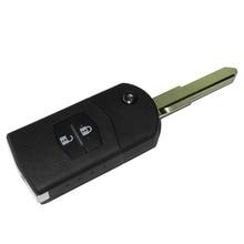 2 Кнопки Дистанционного Ключа Дело Брелок Shell Складной Флип С Uncut Стеклоочистителя Для Mazda 3 5 6 с логотипом
