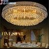 M Modern Luxury Golden Oval Crystal Led Ceiling Lamp 7 Different Color Lights Home Lighting L120