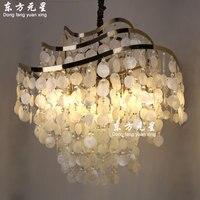 Sea shell подвесной светильник творческий основа Музыка Ветра подвесной светильник гостиная столовая спальня бар декоративного освещения