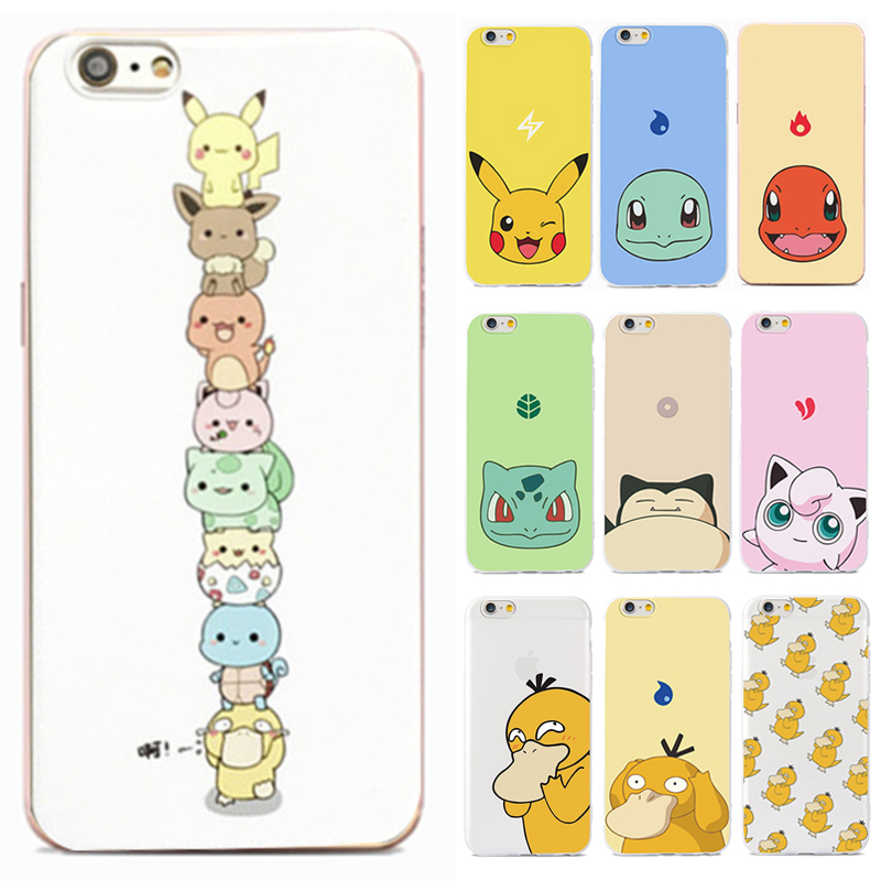 competitive price face1 8f7e8 US $1.99 |Fun Cartoon Silicone Case For Apple iPhone 8 7 6 6s Cases Cute  For Pokemon Soft Transparent Case For iPhone 8 7 6 s Plus Fundas-in Fitted  ...