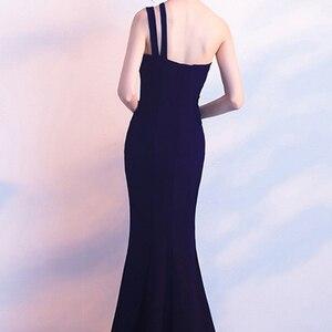 Image 5 - LPTUTTI אחת כתף פיצול לימודיו חדש לנשים אלגנטית תאריך מסיבת טקס נשף שמלת פורמליות גאלה יוקרה ארוך שמלת ערב