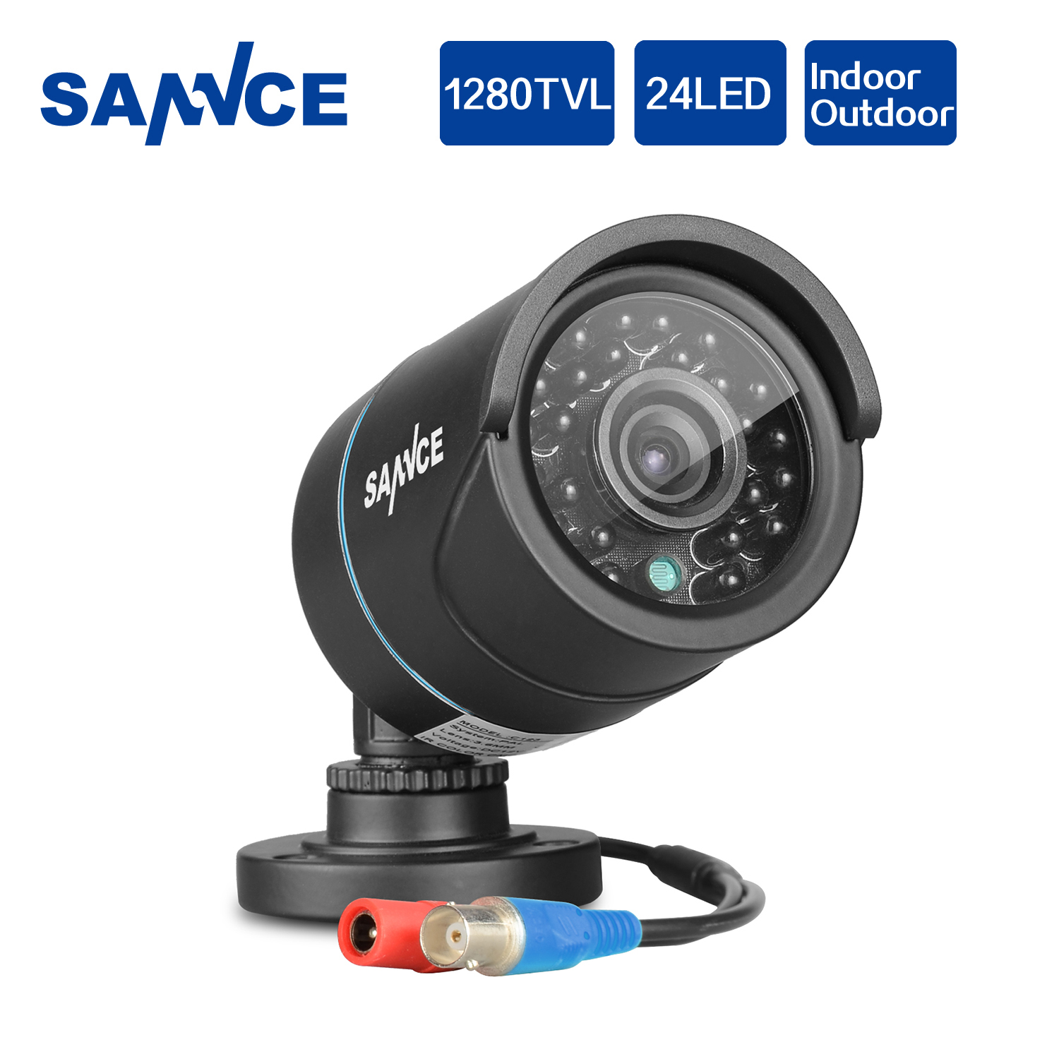 SANNCE AHD 720P 1200TVL Bullet CCTV Camera 1280*720 1.0MP Waterproof IR-Cut Night Vision Camera For Surveillance System Kit BD lifan 720 720