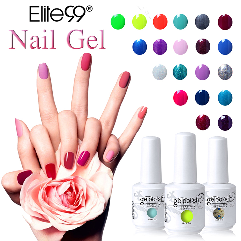Elite99 15ml Gel Nail Polish Soak Off UV Gel New Style Nail Art ...