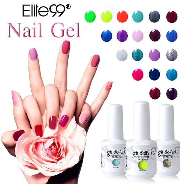 Aliexpress Buy Elite99 15ml Gel Nail Polish Soak Off Uv Gel
