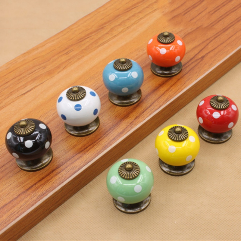 Vintage Furniture Handle Kitchen Pull Handle Ceramic Door Knobs Cabinet Knobs and Handles for Furniture Drawer Cupboard hot brown handle single hole leather door handles cabinet cupboard drawer pull knobs furniture kitchen accessories 96 160 192mm
