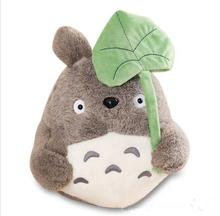 10pcs/lot 25cm Kawaii My Neighbor Totoro Plush Toy Cute Soft Doll Totoro with Lotus Leaf Kids Toys Cat gifts