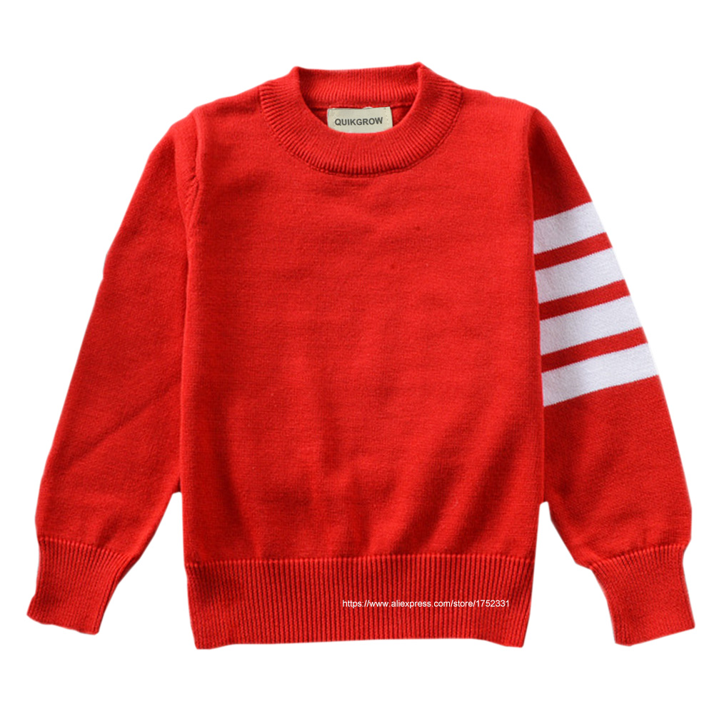 QUIKGROW Excellent Cotton Neutral Infant Girl Sweater Baby Boy Pullover Black&Grey&Red Long Sleeve Knitwear Tops YM23MY