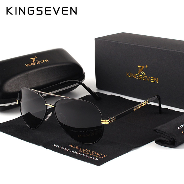 58fd3969a6a KINGSEVEN Men s NEW Fashion Sunglasses Polarized Pi lo t Mirror Lens ...