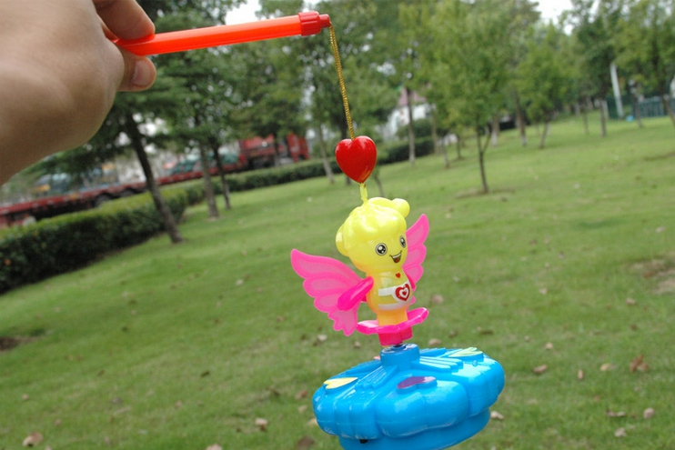 Children's Toys Small Little Fairy Portable Flash Lanterns Gyro Electric Music Unisex Plastic > 3 Years Old