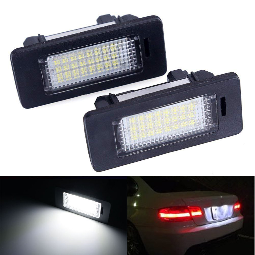 LED licence plate lights number plate bulbs pair 2 lamps BMW X3 E83 X5 E53