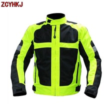New Motorcycle Reflective Safety Windproof Riding Off-Road Racing Sports Jacket Clothing Motorbike Protective Gear Clothing