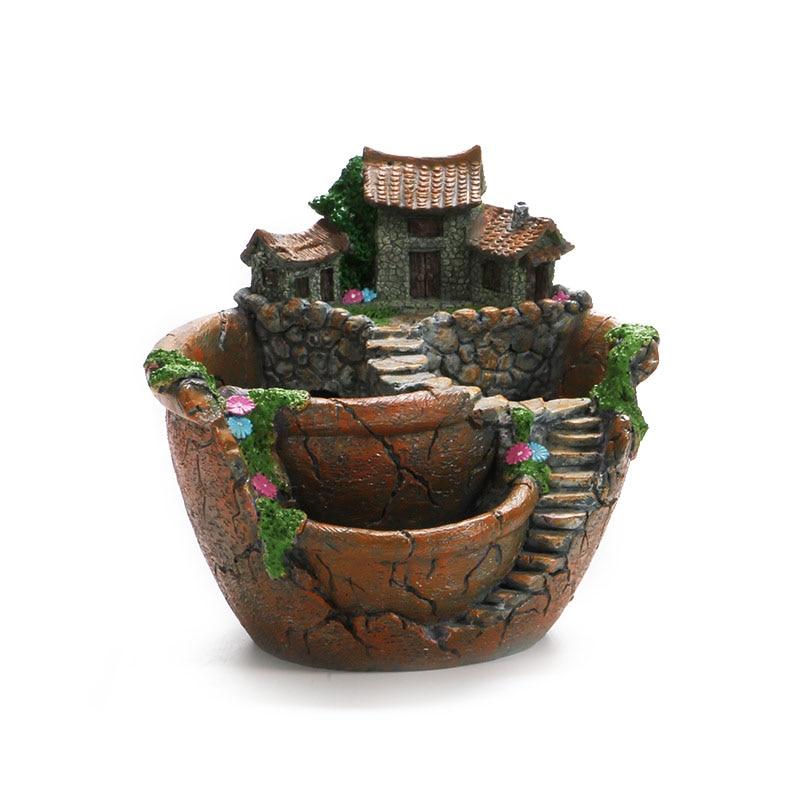 micro landscape flowers succulent plants pot tiny creative flower pot